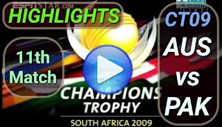 AUS vs PAK 11th Match