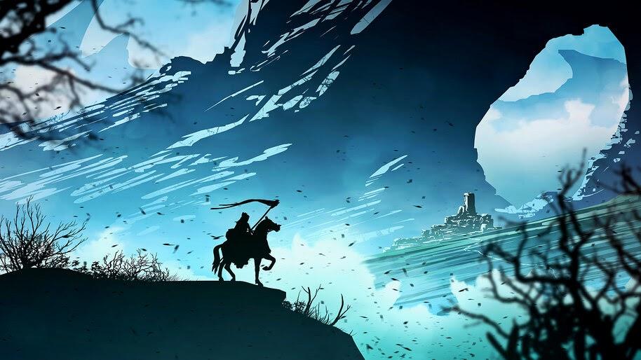 Fantasy, Knight, Scenery, Minimalist, 4K, #4.1021