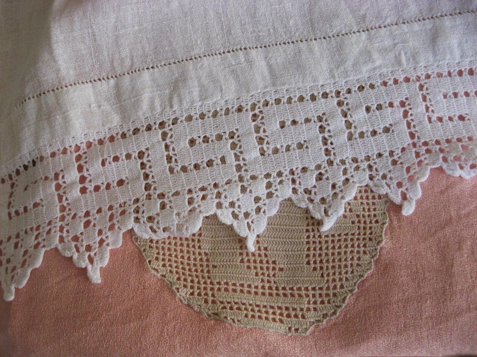 Pizzi all uncinetto per asciugamani modificare una pelliccia for Tovaglie all uncinetto