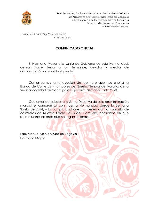 'Rosario de Cádiz' volverá a poner los sones tras el Señor del Consuelo del Transporte de Jerez de la Frontera