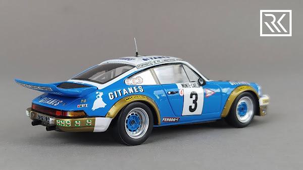 Photo of 1:43 Spark Porsche 911 Carrera RS 2.7, Winner Rally Monte-Carlo 1978, Jean Pierre Nicolas, Vincent Laverne