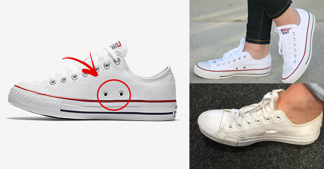 Ever wondered what the two holes on your Converse trainers