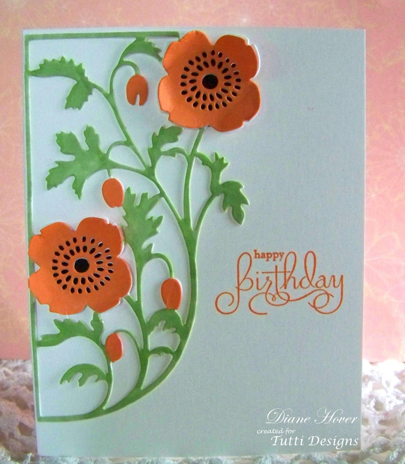 Tutti Designs Happy Birthday Poppies