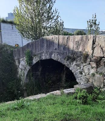 Ponte de Pedra no Parque Oriental do Porto
