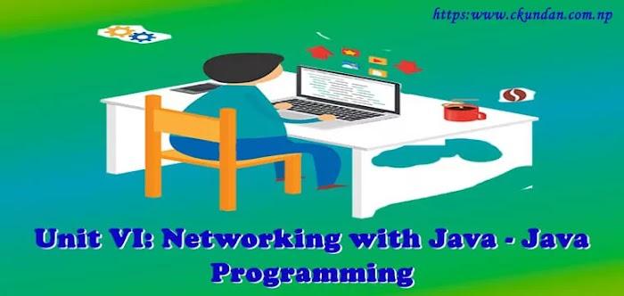 Unit VI: Networking with Java – Java  Programming