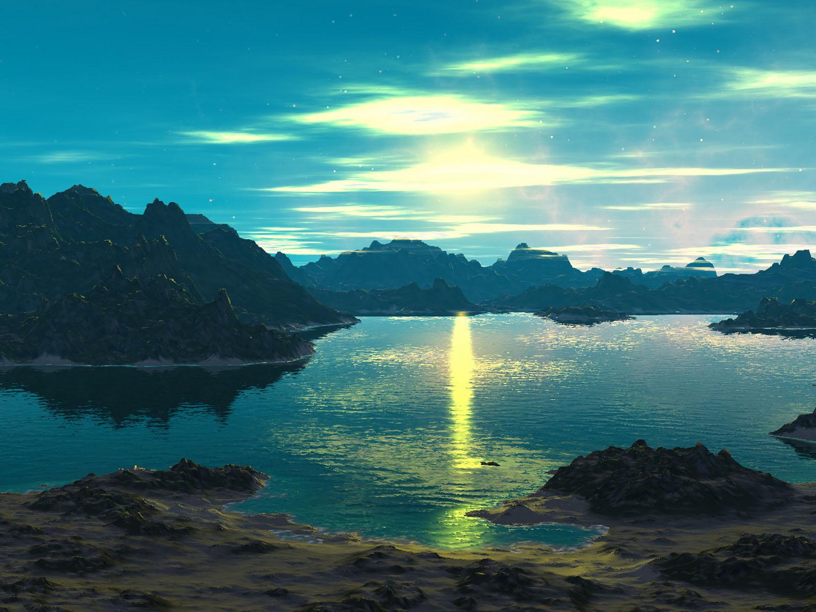Wallpapers: Wallpapers: Alien Sunset Wallpapers
