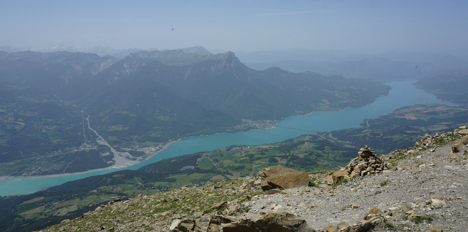 Serre Ponçon Lake viewed from Mont Guiilaume