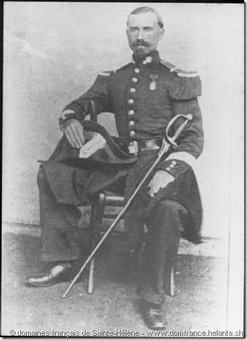Lucien Désiré Morilleau (1835-1907) photographié par John Isaac Lilley et George Whalley Melliss, 1862 – Collection des domaines français de Sainte-Hélène