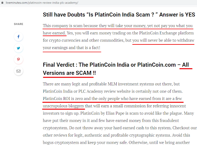 Review of MLM Reviews: Is Platin Coin REALLY a Scam?