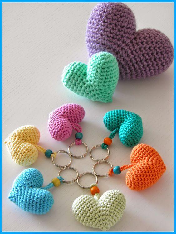 Patrón: Tutorial Corazón en crochet - Telares & Manualidades