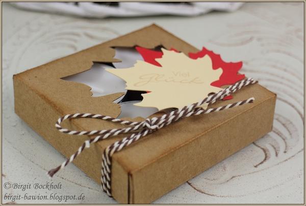 Herbstliche Teelichterbox