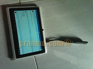 tes koneksi treq A10 basic 2 dengan modem huawei E173