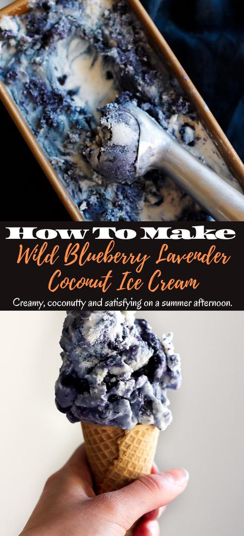 Wild Blueberry Lavender Coconut Ice Cream #desserts #cakerecipe #chocolate #fingerfood #easy