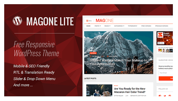 MagOne Lite Responsive WordPress Theme
