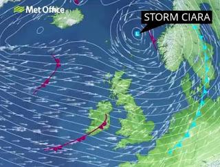 Storm Ciara Weather Map