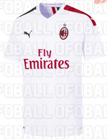 64903a52fd3cff La Nuova Maglia Milan 2020 è bianca. Il logo Puma è nero mentre lo sponsor  Fly Emirates è rosso. La particolarità di questa seconda maglia AC Milan  2020 è ...