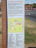 Plan of Government Gardens - Rotorua, New Zealand