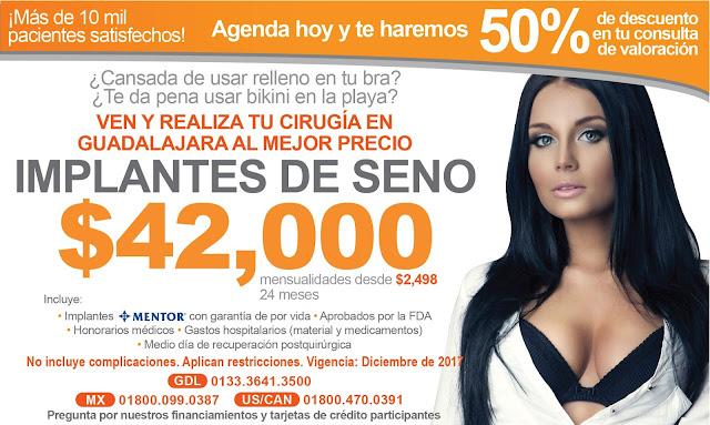 Precio implantes seno DF Ciudad de México cirujanos certificados