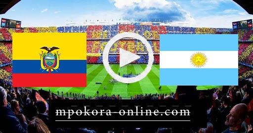 نتيجة مباراة الأرجنتين والإكوادور بث مباشر كورة اون لاين 09-10-2020 تصفيات كأس العالم: أمريكا الجنوبية