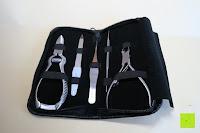 Erfahrungsbericht: BIZARRE.LY 5teiliges Set für Pros - EINFACHES BEHEBEN von eingewachsenen Zehennägel, VORBEUGEN von schmerzenden & wunden Nägeln – FEILE, HEBER, 2 x ZANGEN, PRÄZISIONSPINZETTE – im tragbarem LEDERETUI.