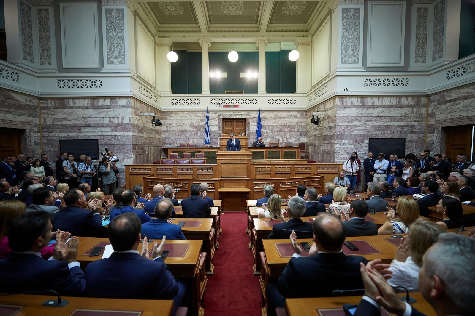 Συνεδρίασε η Κ.Ο. της Ν.Δ. στη Βουλή (ΦΩΤΟ)