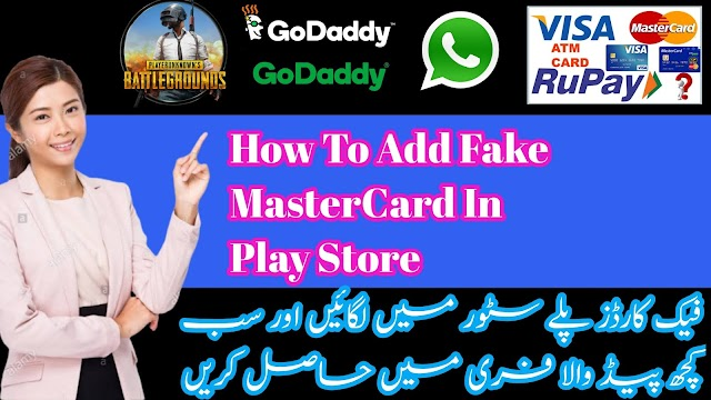 How to Add fake MasterCard for fake WhatsApp number|add MasterCard in play Store