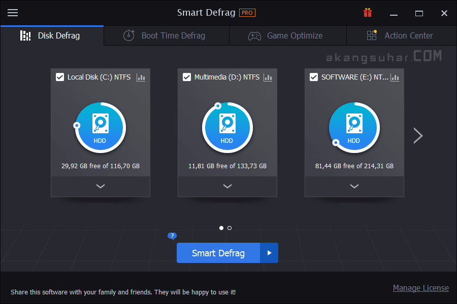Free Download IObit Smart Defrag Pro Full Version