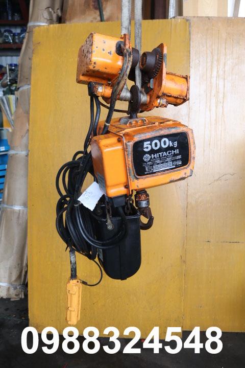 cho thuê pa lăng điện xích Hitachi 250kg cũ