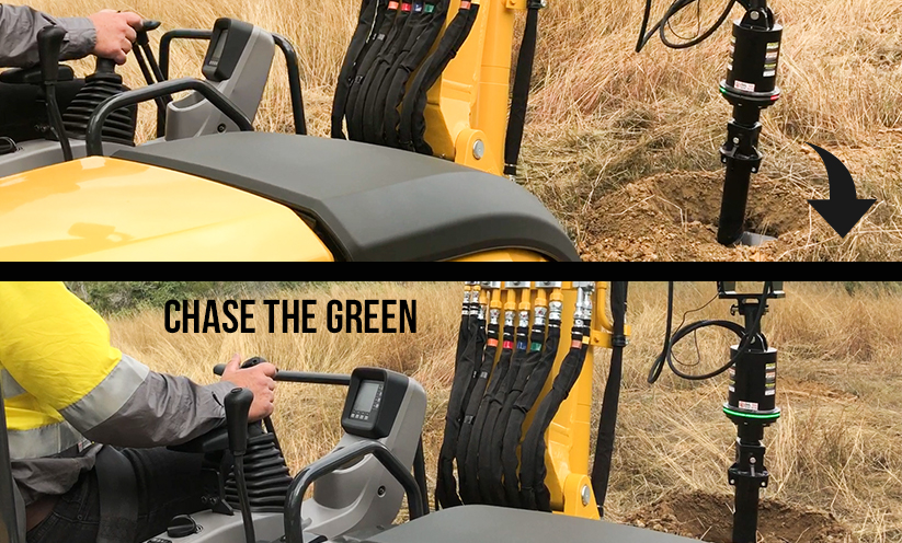 Digga Halo Alignment System- chase green LED lights