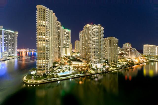 A região de Brickell em Miami