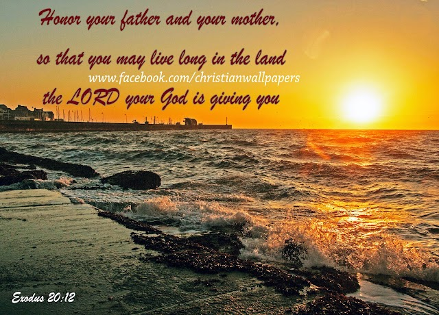 Honour your father and mother