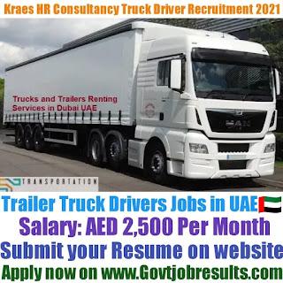 Kraes HR Consultancy Trailer Truck Driver Recruitment 2021-22