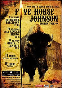 Five Horse Johnson en Madrid, Barcelona y Bilbao en junio