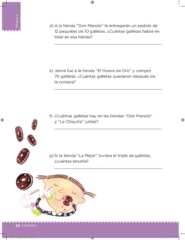 Paquetes de galletas desafios matemáticos 2do bloque 5/2014-2015
