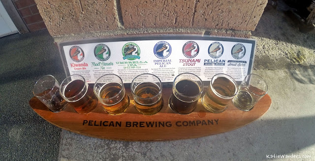 Beer Sampler at Pelican Pub and Brewery at Pacific City