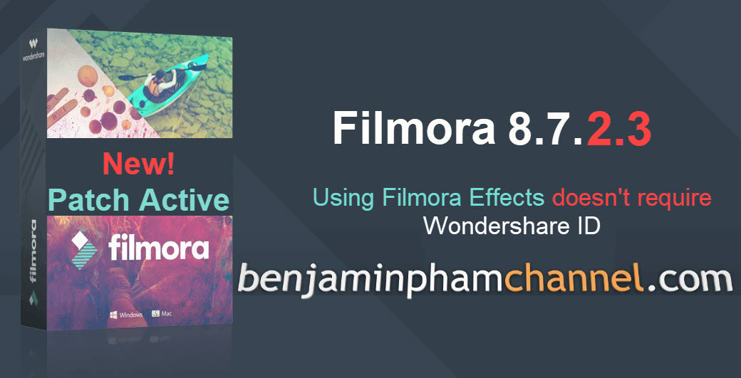 Wondershare Filmora 8.7.2.3 Official Patch Active