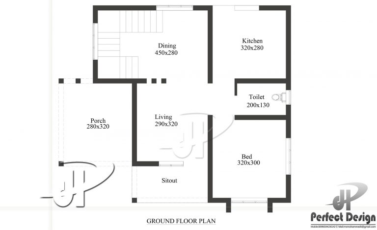1 bedroom small house plan in 650 sqft with future for House plans with future expansion