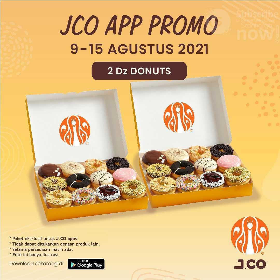 Promo JCO Aplikasi (JCO APP Promo) Harga Spesial 2 lusin Donut hanya Rp.105K