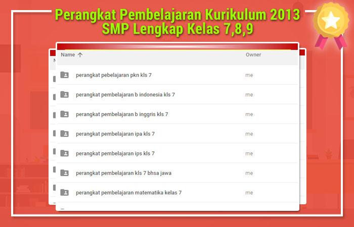 Perangkat Pembelajaran Kurikulum 2013 SMP Lengkap