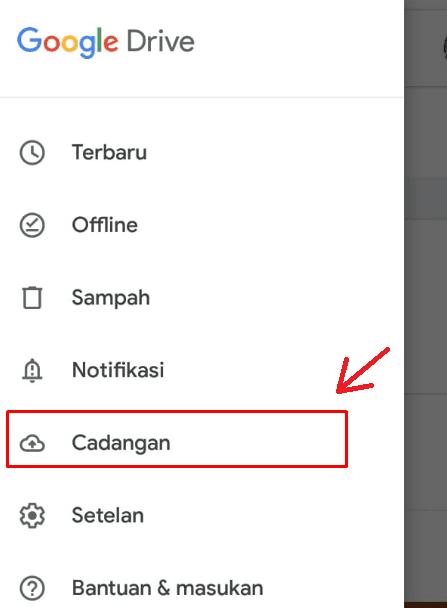 Tekan Cadangan Akun Google Drive