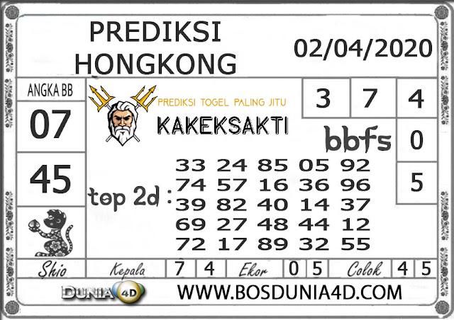 Prediksi Togel HONGKONG DUNIA4D 02 APRIL 2020