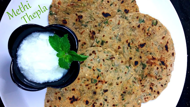 Methi na thepla recipe gujarati - Methi Roti