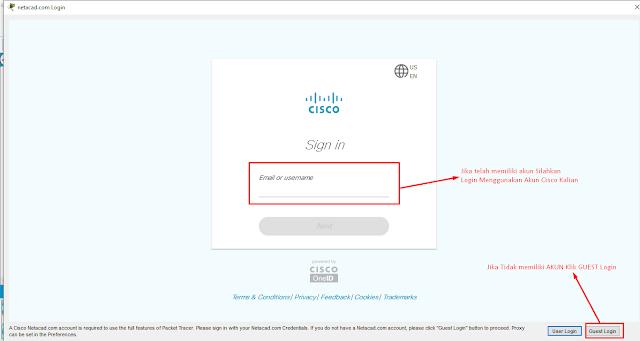 Halaman Login Cisco Packet Tracer