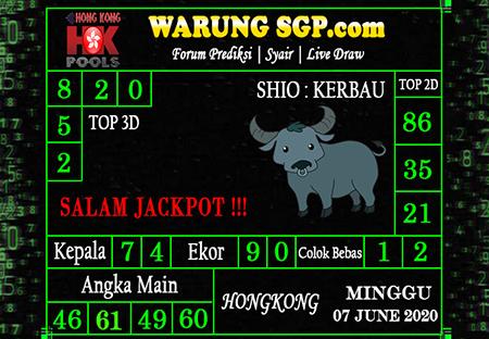 Bocoran HK Minggu 07 Juni 2020 - WarungSGP