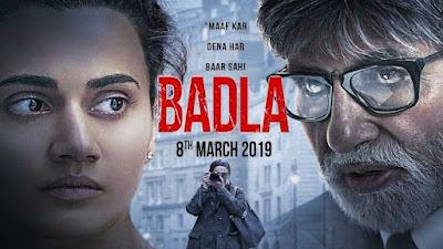 Download Badla (2019) Hindi Full Movie 480p [350MB]   720p [700MB]   1080p [2GB]