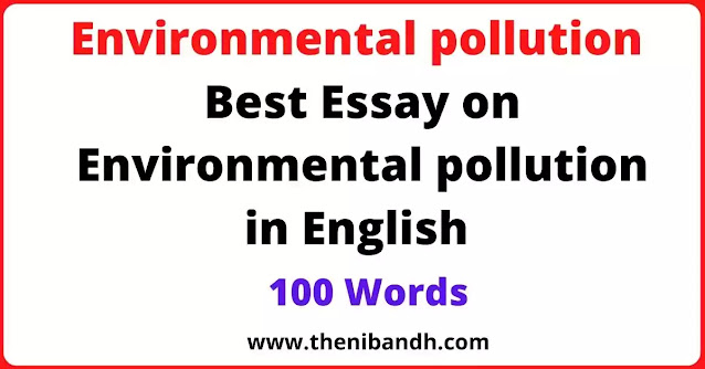Problem of Pollution on Environment text image