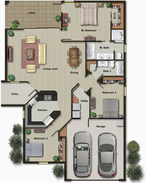 3d Modern House Plans Projects Collection Decor Units