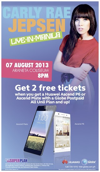 Get Carly Rae Jepsen Free Tickets on her Live Concert in Manila, Philippines