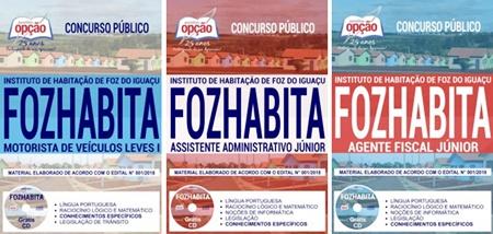 Apostila Concurso FOZHABITA de Foz do Iguaçu 2018