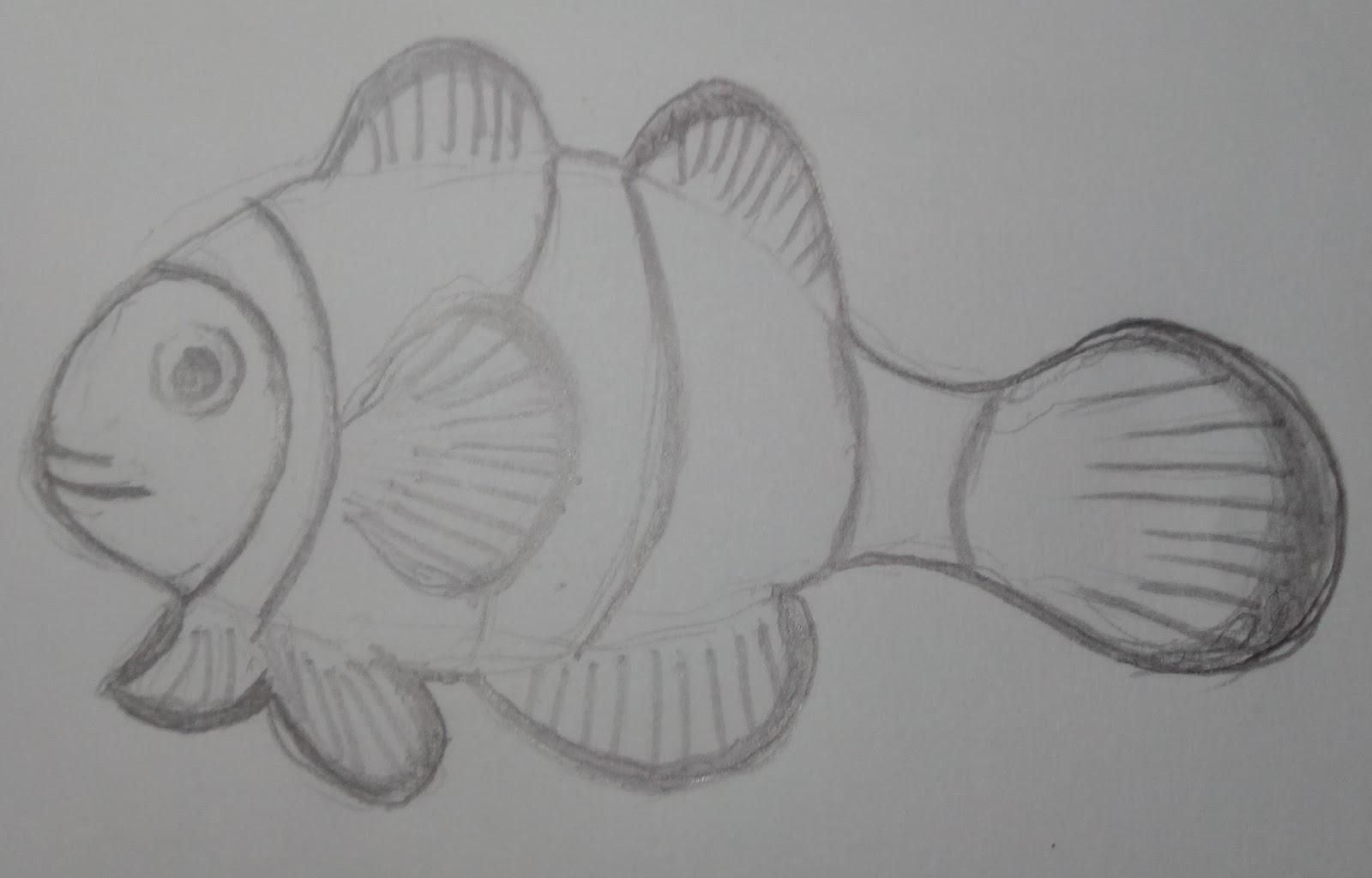 Kumpulan Contoh Gambar Sketsa Ikan Informasi Masa Kini
